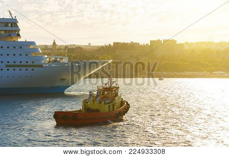 Boats in Mandraki Harbour. Rhodes Town, Rhodes, Greece