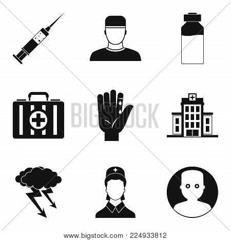 Healer icons set. Simple set of 9 healer vector icons for web isolated on white background