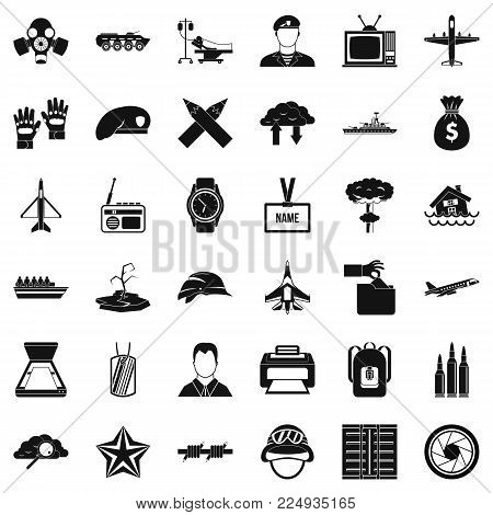 Feat icons set. Simple set of 36 feat vector icons for web isolated on white background