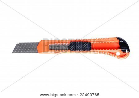 Box Cutter Isolated Against A White Background