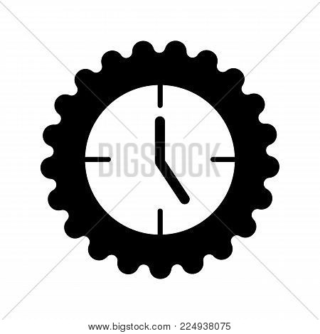 Clock icon in trendy flat style isolated on background. Solid design. Clock icon page symbol for your web site design Clock icon logo, app, UI. Clock icon Vector illustration, EPS10