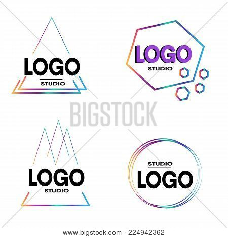 Art Graphic Logo Design Stock suitable for community, agency and web studio. elegant