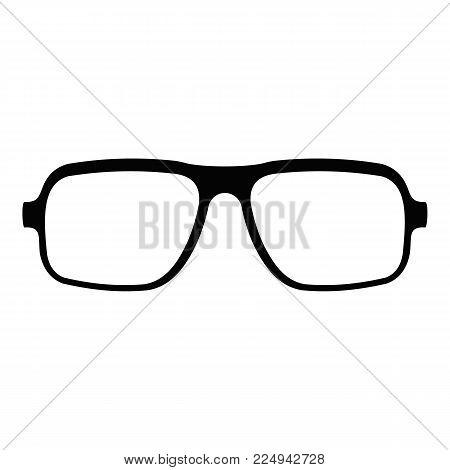 Accessory eyeglasses icon. Simple illustration of accessory eyeglasses vector icon for web