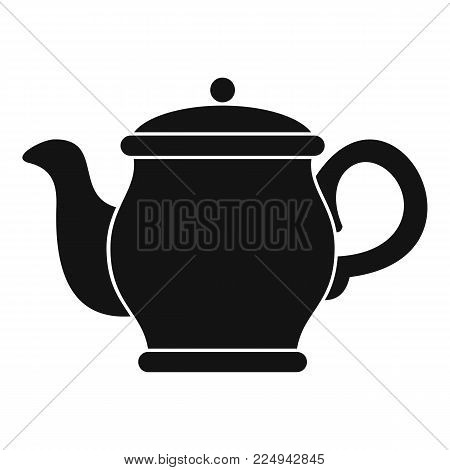 Beautiful teapot icon. Simple illustration of beautiful teapot vector icon for web