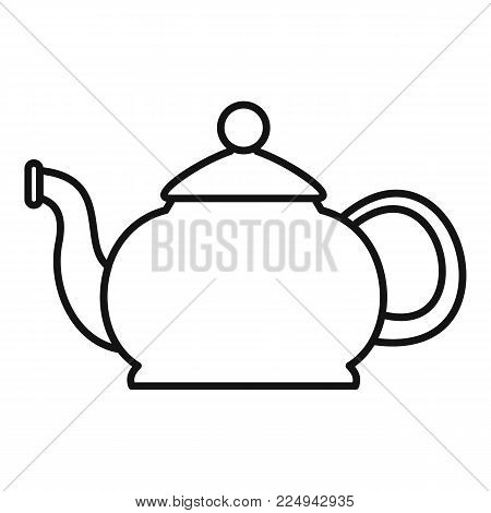Closed teapot icon. Outline illustration of closed teapot vector icon for web