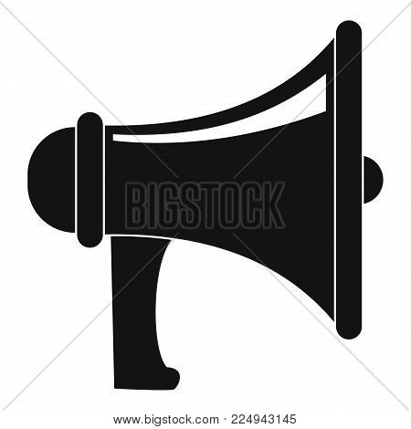 Professional megaphone icon. Simple illustration of professional megaphone vector icon for web