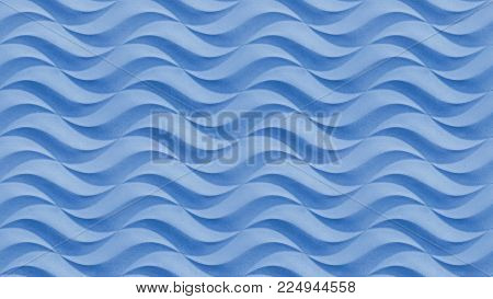 Blue wavy stone texture background pattern. Gypsum plaster stucco seamless wavy texture pattern stone surface. Wavy background blue pattern. Abstract seamless blue waves background pattern. Wavy pattern background