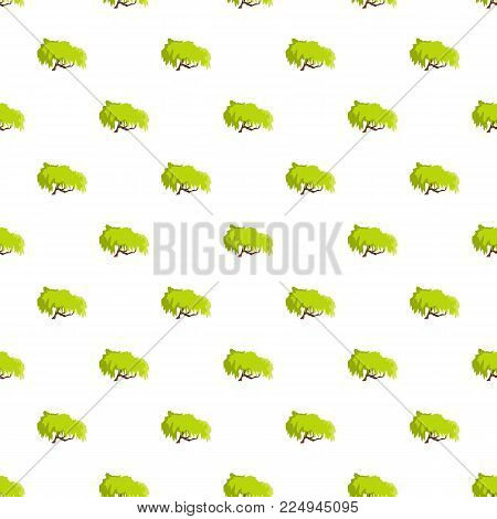 Willow tree pattern seamless in flat style for any design