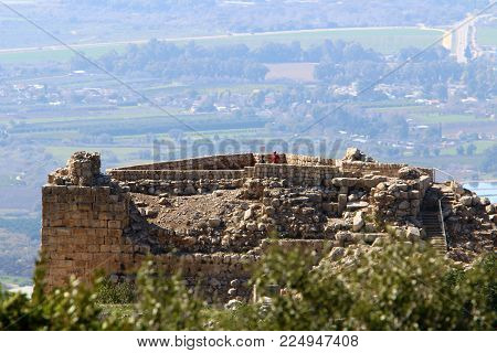 Nimrod Fortress in Israel is a medieval fortress located in the northern part of the Golan Heights, on a crest about 800 m above sea level.