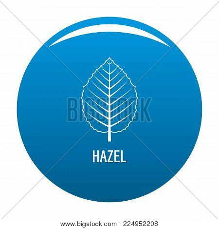 Hazel leaf icon vector blue circle isolated on white background