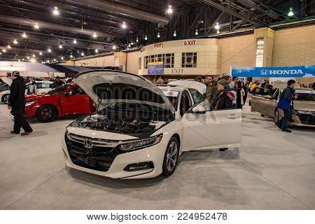 PHILADELPHIA, PA - Feb 3: view of people enjoying the 2018 Philadelphia Auto Show