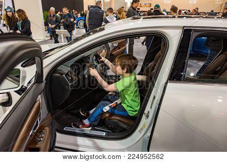 PHILADELPHIA, PA - Feb 3: a Volvo at the 2018 Philadelphia Auto Show