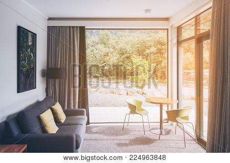 Living Room Interior Design At Milford Sound Lodge