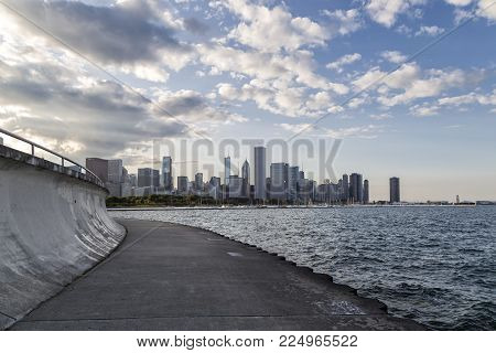 A view of the Chicago City Skyline