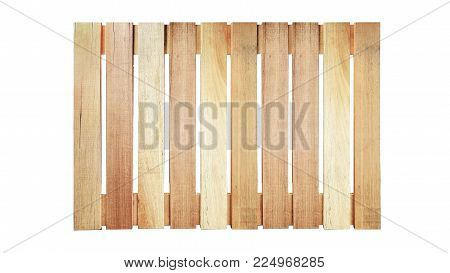 Wood Pallet On White Background In Top View