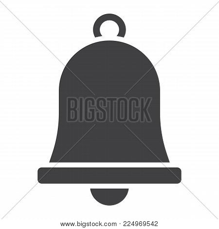Easter bell glyph icon, easter and holiday, jingle sign vector graphics, a solid pattern on a white background, eps 10.