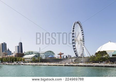 Navy Pier In Chicago, Ilinois, United States Of America