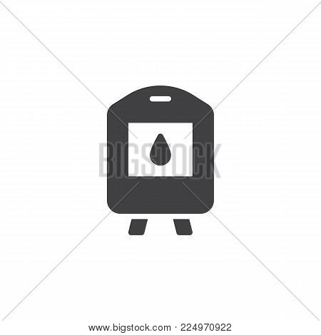 Blood transfusion icon vector, filled flat sign, solid pictogram isolated on white. Blood donation symbol, logo illustration.
