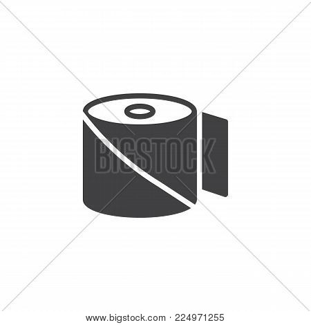 Bandage icon vector, filled flat sign, solid pictogram isolated on white. Medical roll plaster aid symbol, logo illustration.