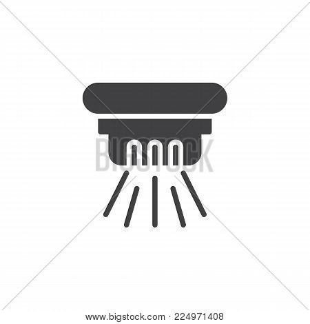 Ceiling fire extinguisher icon vector, filled flat sign, solid pictogram isolated on white. Fire sprinkler symbol, logo illustration.