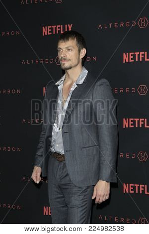 LOS ANGELES - FEB 1:  Joel Kinnaman at the
