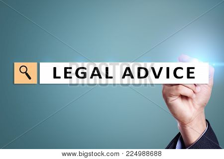 Legal advice ext on virtual screen. Consulting. Attorney at law. lawyer, Business and Finance concept