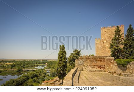 Castle of Henry II of Castile, 14th Century, in Ciudad Rodrigo, a small cathedral city in the province of Salamanca, Spain.