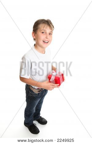 Boy With Christmas Present