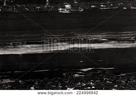 Black marble texture background in natural patterned for design, Abstract marbles in black and white. High resolution photo.