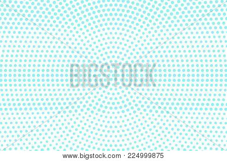 Blue On White Dotted Halftone. Halftone Vector Background. Rough Horizontal Dotted Pattern. Retro Fu