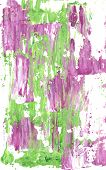 Mauve and green abstract streaks of paint on a white background poster