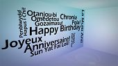 Creative image of international happy birthday concept poster