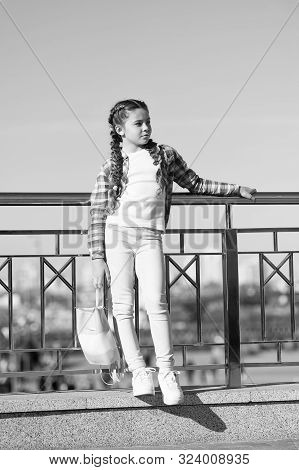 Girl Urban Background. Activities For Teenagers. Vacation And Leisure. Weekend Events For Kids. City