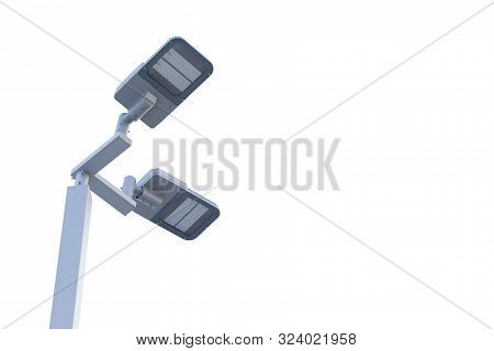 Street Light That Use Solar Cell,solar Street Light Pole Under The Sky,led Street Lights In Parks An