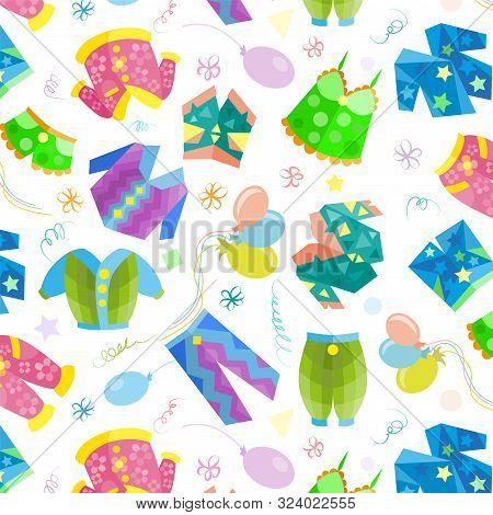 Pajama Sleepover Party Seamless Pattern, Pajama Sleepover Party Seamless Pattern