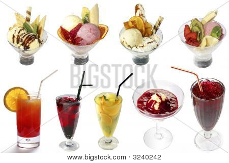 Cocktails And Ice-creams Mix