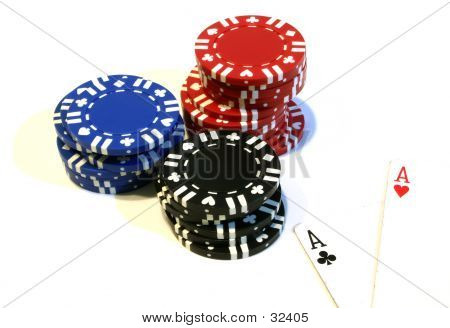 Poker Chips & Aces