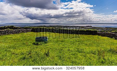 View Of The Countryside In The Inis Oirr Island With The Plassey Shipwreck And The Cliffs Of Moher I
