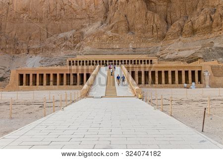 He Mortuary Temple Of Hatshepsut, Also Known As The Djeser-djeseru In Luxor, Egypt  - April 16, 2019