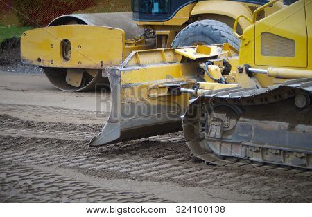 Steamroller Excavation Construction Machine Hydraulic Backhoe Yellow