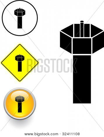 coaxial cable symbol sign and button