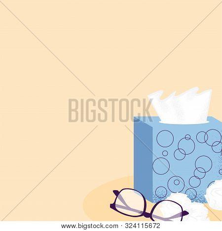 Autumn Illness Season Design. Cold And Sick, Virus And Health, Flu Infection, Fever Disease, Sicknes