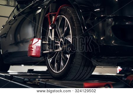 Tyres Balancing In Progress - New Shiny Car Got Problems With Wheels.