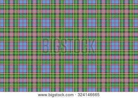 Isle Of Man Tartan. Seamless Rectangle Pattern For Fabric, Kilts, Skirts, Plaids