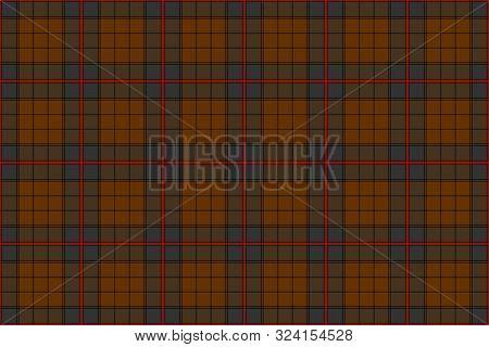 Ulster Tartan. Seamless Rectangle Pattern For Fabric, Kilts, Skirts, Plaids
