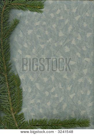 Blue Spruce On Bluegrey Fabric2