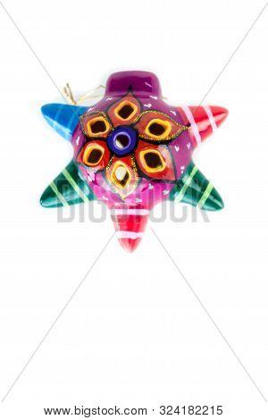Traditional Miniature Colored Pinata, Mexican Original Handcraft