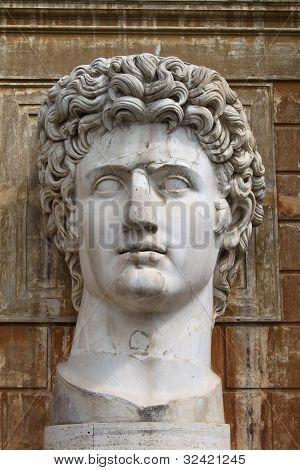 Head of Emperor Augustus at the Vatican Museum