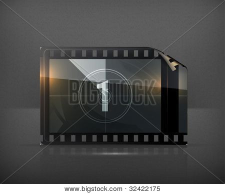 Film strip, vector poster