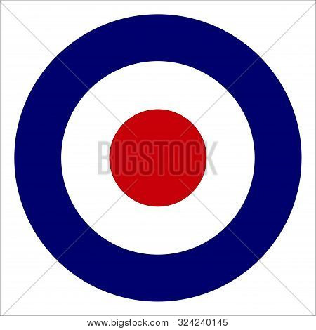Typical Red White And Blue Circle Roundel As Per British Fighter Aircraft